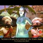 Fun fact - in the Beta version of Giants, Delphi didn't wear a bra.
