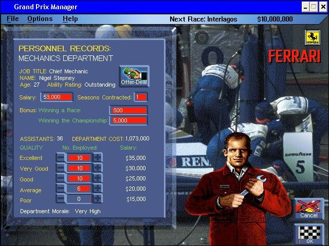 Grand Prix Manager - PC Review and Full Download | Old PC Gaming